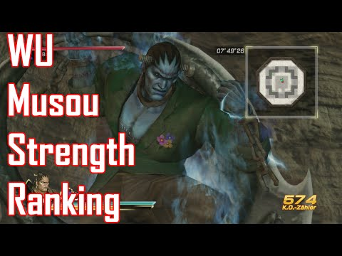 Dynasty Warriors 8 XL Musou Strength Ranking [WU Kingdom]