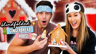 Blindfolded Gingerbread Houses w/ Josh Peck