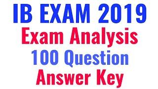 IB Exam Analysis, IB Answer key 2018, IB exam Review All question with Answer