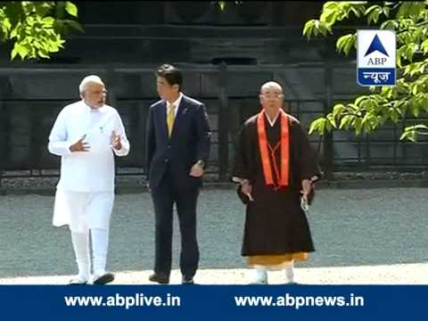 PM Modi visits ancient Buddhist temple in Japan