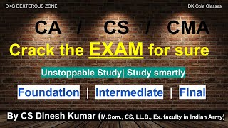 How to study effectively |Exam Tips | CA/CS/CMA | Foundation | Inter | Final