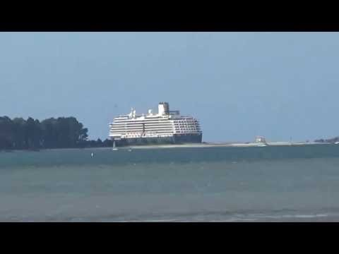 The Noordam and Celebrity Solstice leaving Tauranga 12th February 2016
