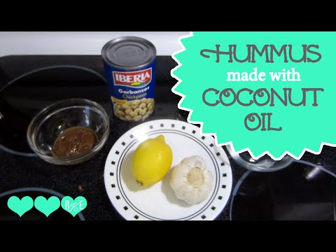 How to Make Hummus Using Coconut Oil | Healthy Meal Prep