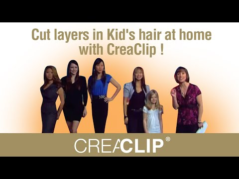 Cut layers in Kid's hair at home with CreaClip ! &RisQue by Mai Lieu