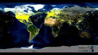 Thumb Tráfico Aéreo Mundial de 24 horas en un Time-Lapse de 1 minuto