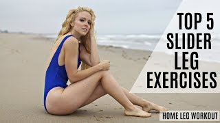 Top 5 Slider Leg Exercises: Lunge Without Knee Pain | MFit