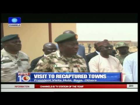 Jonathan Visits Reclaimed Territories In Adamawa And Borno