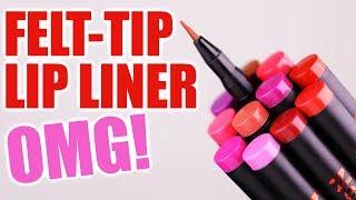 FELT-TIP LIQUID LIP LINER ... OMG!!!