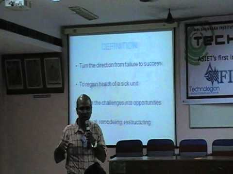 Turnaround Management-A lecture to MBA students By Herrose