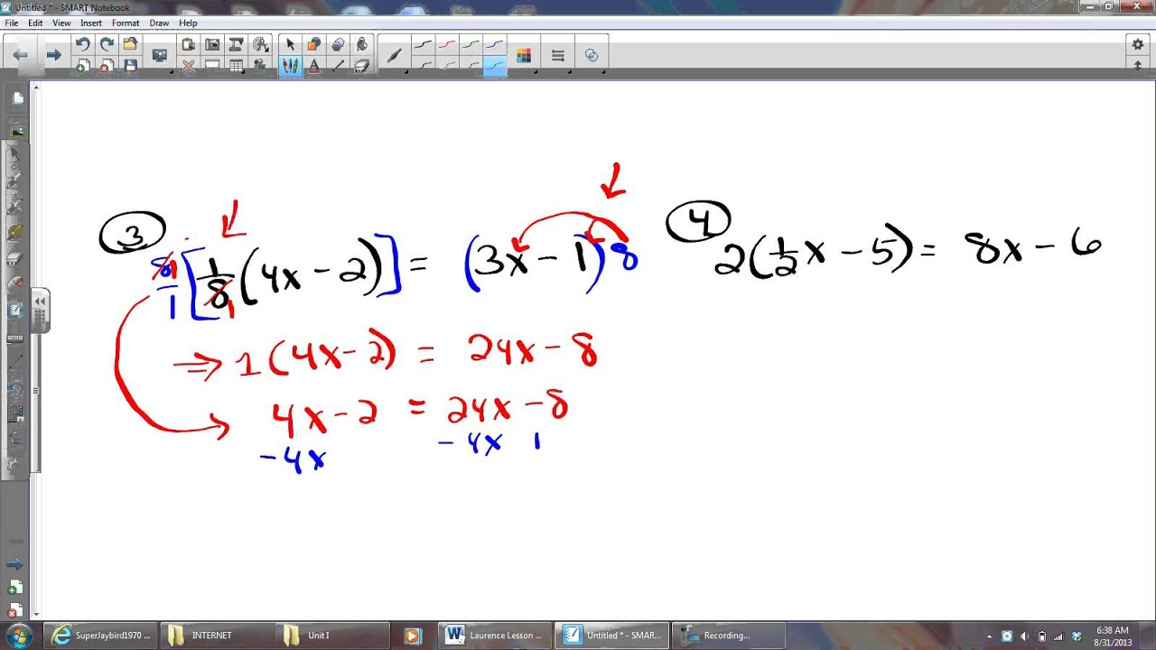 Multi Step Equations Worksheet With Fractions Further Further   Free ...