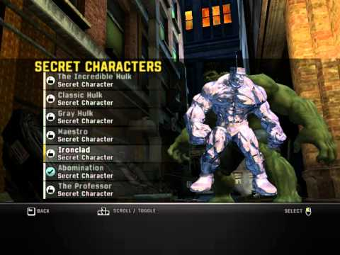 Descargar SaveGame The Incredible Hulk 100%FULL