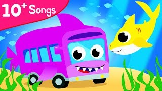 SHARK BUS SONG | Baby Car | Dance with Baby T-Rex, Apples and Bananas and more by Little Angel