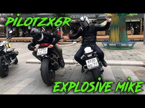 PilotZX6R в Москве | Покатушки по городу | BMW R nineT | Встреча с подписчиками