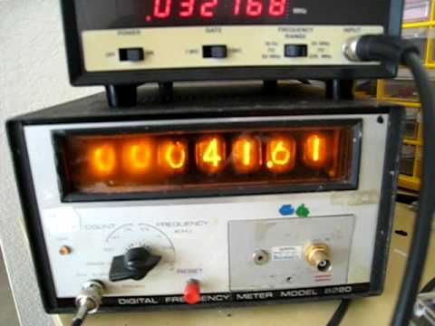 Nixie Tube Frequency Counter: Accuracy Test