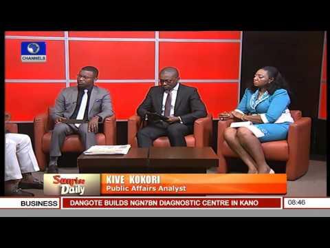 Sunrise Daily: Nigeria Needs Its People To Combat Insecurity - Kokori 30/11/15