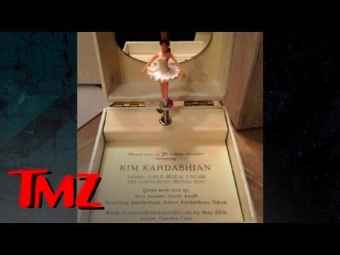 kim kardashian 39 s baby shower over the top invitation youtube