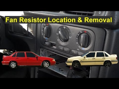 Fan motor only works on high. resistor location and removal - Auto Repair Series