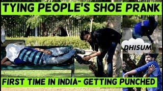 TYING PEOPLE'S SHOES AND STEALING THEIR STUFF PRANK !! prank in india 2019 !! prank in jaipur