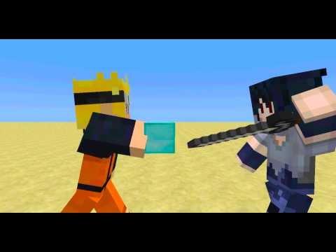 Naruto vs. Sasuke-Naruto Minecraft Animation- Part 1