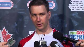 Draw 8 Media Scrum - 2013 Tim Hortons Brier