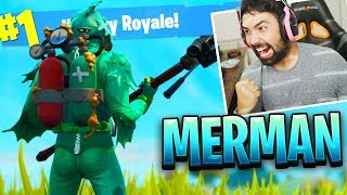 "NEW Fortnite ""MOISTY MERMAN"" Skin Gameplay.."