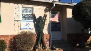 Swastika Hybrids Spark UnityND Leftist-Fascist On Foot & jew LA Times -Tiny Bungalow Sacramento CA