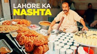 Fiqay ki Lassi & Sadiq Halwa Puri   Lahori Nashta   Pakistani Street Food