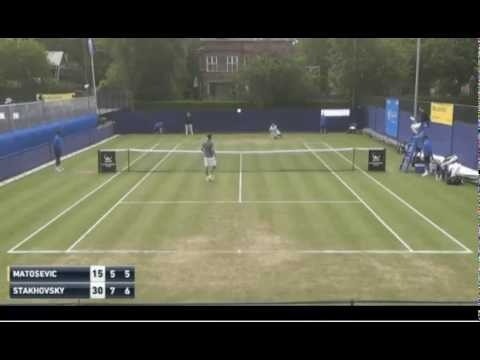 CRAZY Marinko Matosevic launches his racket