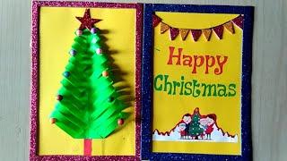 Christmas greeting card making DIY Easy to make
