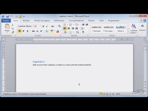 Curso de Microsoft  Word 2010.  p16 documentos maestros