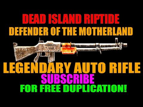 Dead Island Riptide Mindblowing Defender Of The Motherland   Orange Auto Rifle   Infinite Ammo! (HD)