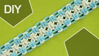 Square knot variations with eight strings / DIY Tutorial