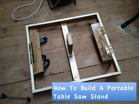 How To Build A Portable Table Saw Stand Youtube