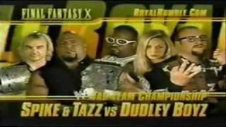 WWF Royal Rumble 2002 Matchcard