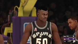 NBA 2K2 Re-imagined: Spurs @ Lakers Cpu vs Cpu Beta W.I.P.