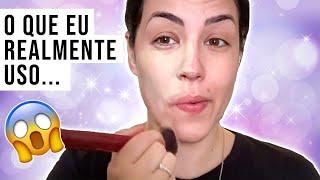 MAKE DA VIDA REAL + MINHA NECESSAIRE DE MAQUIAGEM REAL