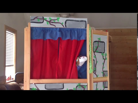 Rapunzel sock puppet play