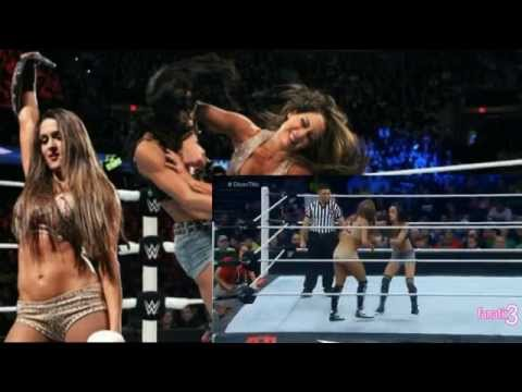 SEXY Divas Champion Nikki Bella vs AJ Lee (Divas Championship Match WWE TLC 2014)