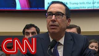 Mnuchin grilled over IRS draft memo on Trump's tax returns