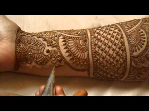 Full Hand Indian Mehndi Design:How To Do Bridal Henna Mehendi...