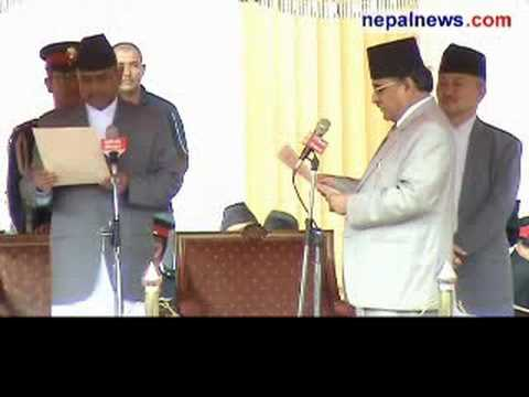 PM Dahal sworn in, assumes office