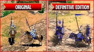 Age of Empires 2: Definitive Edition - All Unique Units Comparison - Original vs Remaster