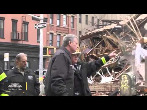 A Pile of Rubble Is All That Remains After Suspected Gas Explosion In New York