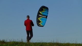 3 meter Power Kite flying in fresh wind
