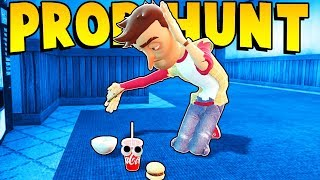 PROP HUNT IN THE TRAIN STATION?! (Garry's Mod Gameplay Gmod Roleplay) Gmod Prop Hunt Funny Moments!