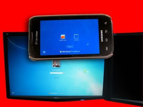Remote Rdp Lite Android To Windows 7 Desktop Youtube