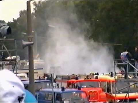 Closely to the end of the ITC/DTM race 1 1996 Jan Magnussen suffered a total brake failure and went head on into emergency exit at the end of Norisring's sta...