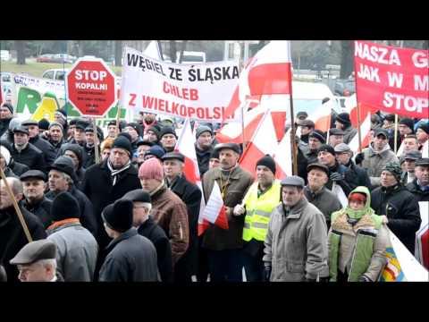 Protest Rolników W Poznaniu