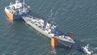 事故のイージス艦が出港