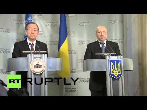 Ukraine: Ban Ki-moon meets Kiev's new leadership